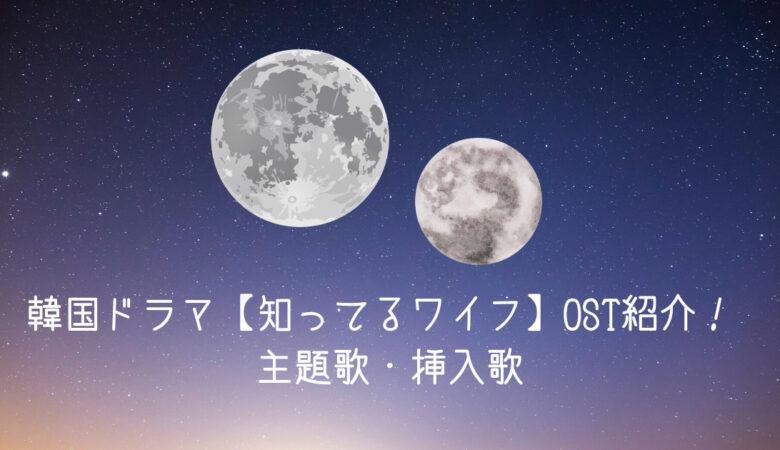 韓国ドラマ【知ってるワイフ】OST紹介! 主題歌・挿入歌